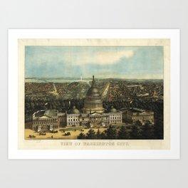 View of Washington City, Washington D.C., (1871) Art Print