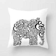Ampersand Elephant Throw Pillow