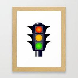 Hooded Traffic Lights Framed Art Print