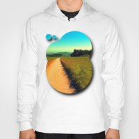 hiking Hoodies featuring Hiking on a hot afternoon by Patrick Jobst