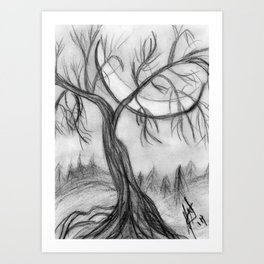 Willow in the Valley Art Print