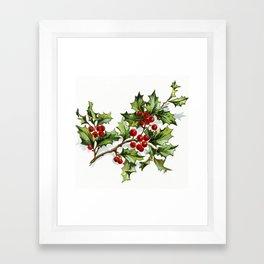 Holly Berries 20171001 by JAMFoto Framed Art Print