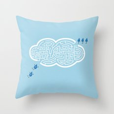 Maze Cloud Throw Pillow