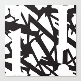 Abstract Text 1 Canvas Print