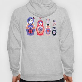 Russian Nesting Dolls – Pink & Lavender Hoody