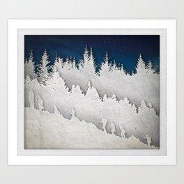 A Snowy Hike Art Print