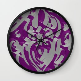 3D Ornamental Background Wall Clock