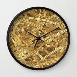 Full of gold chains Wall Clock