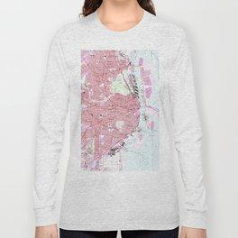 Vintage Map of Mobile Alabama (1953) Long Sleeve T-shirt