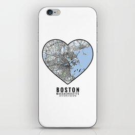 Boston Heart Map Art iPhone Skin