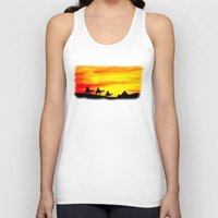 egyptian Tank Tops featuring Egyptian supermoon by Pirmin Nohr