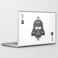 card Laptop & iPad Skins featuring Darth Vader Card by Sitchko Igor