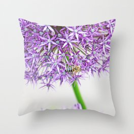 Be a Bee and be Free Throw Pillow