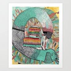 Las Garrapatas de Bruno Art Print