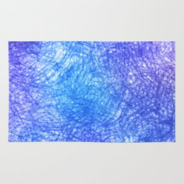 Minimalist Blue Watercolor Design Rug