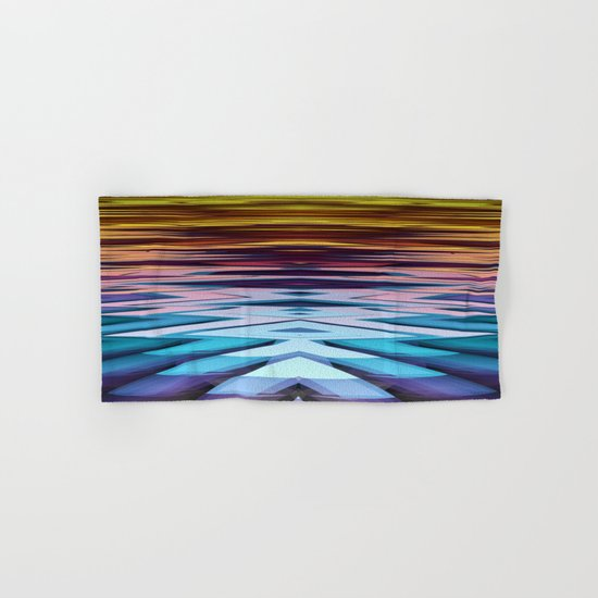 Water and Earth tones in an Abstract Hand & Bath Towel