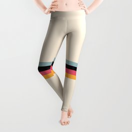 Ishtar - Classic Retro Summer Stripes Leggings