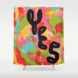Typography Pop Art - Will There Be A Light? Yes - Inspirational Quotes Shower Curtain