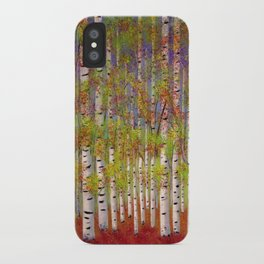 Dressed in Fall Colors iPhone Case