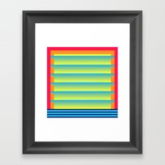 Gradient Fades v.2 Framed Art Print