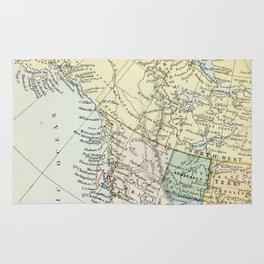 Vintage Map of Canada Rug
