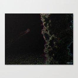 NEON JELLYFISH Canvas Print