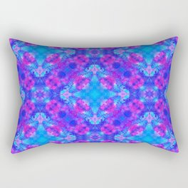 Hand drawn seamless pattern with folk national motives. Bright colored abstract wallpaper. Seamless Rectangular Pillow