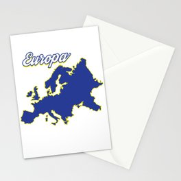 Europe Map Country Patriotism Nationals Patriot European Flag Gift Stationery Cards