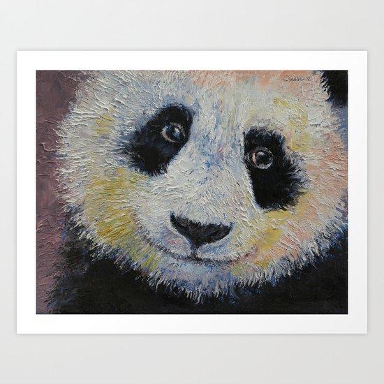 Panda Smile Art Print
