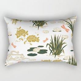 Asian floral illustration pattern I Rectangular Pillow