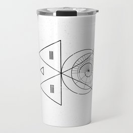 Espiral Triangle White Travel Mug