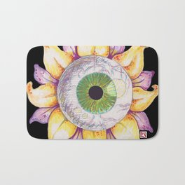 Eyeball Flower Bath Mat