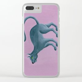 Misha - Russian Blue Clear iPhone Case
