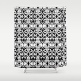 Gray ethnic ornament Shower Curtain