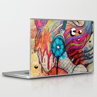 floyd Laptop & iPad Skins featuring Pink floyd by Koojoo.ink