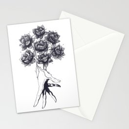 Hand with lotuses Stationery Cards