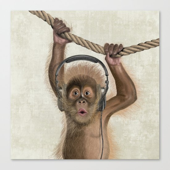 Baby monkey Canvas Print