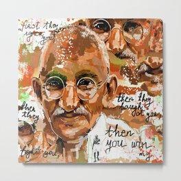 Gandhi wins Metal Print