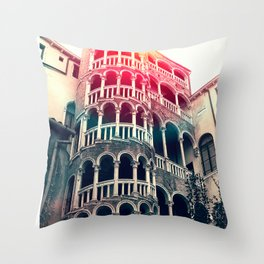 Scala Contarini del Bovolo venice. Throw Pillow