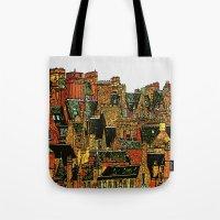 edinburgh Tote Bags featuring Edinburgh by dacarrie