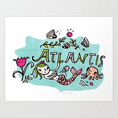 Candy Atlantis Art Print