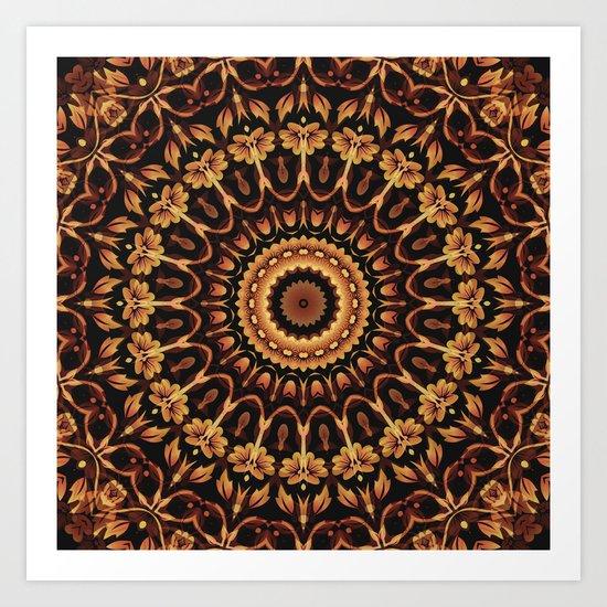 Autum Colors Mandala Art Print