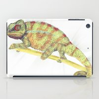 chameleon iPad Cases featuring chameleon by merry
