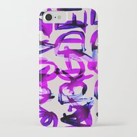 letters iPhone & iPod Cases featuring letters by Artemio Studio
