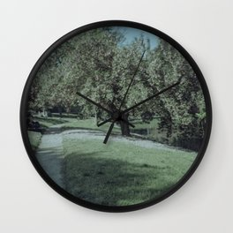 Green-Wood cemetery in bloom Wall Clock