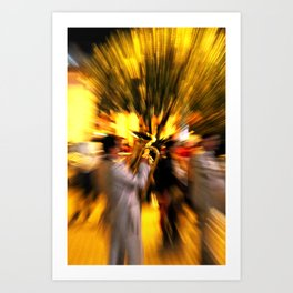 Street music is movement Art Print