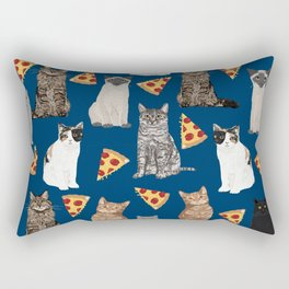 Cats pizza slices food cat lover pet gifts must have cat breeds Rectangular Pillow