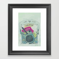 Meter Framed Art Print