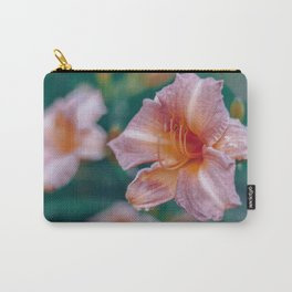 Pink and orange flower in bloom Carry-All Pouch