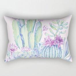 Mixed Cacti Pink #society6 #buyart Rectangular Pillow